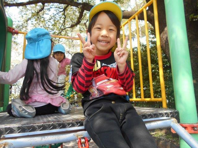 3才児公園で