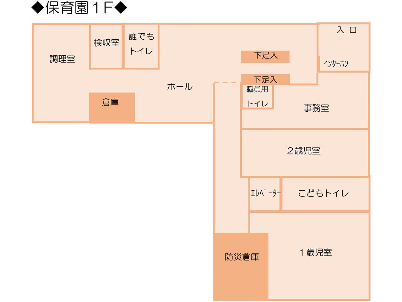 マミー保育園 東陽町 見取り図 1F